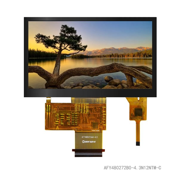 """4.3"""" TFT, 480x272, 420 Nits with Capacitive Touch Panel"""