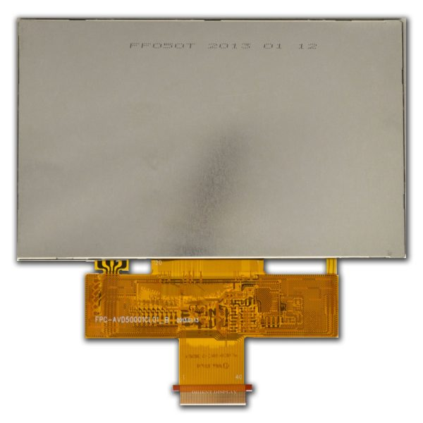 """5.0"""" TFT, 800x480, 240 Nits with Resistive Touch Panel"""