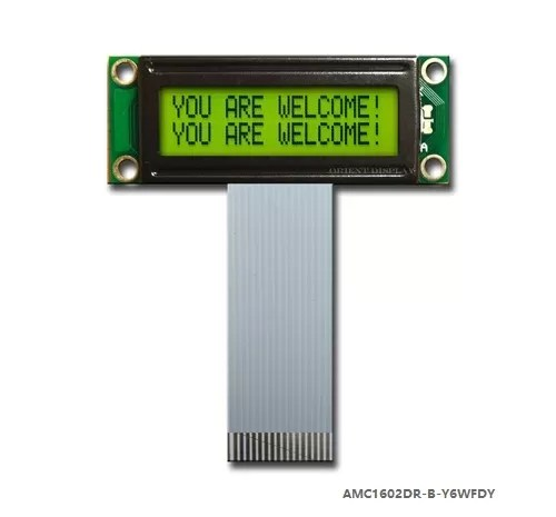 AMC1602DR-B-Y6WFDY (16x2 Character LCD Module)