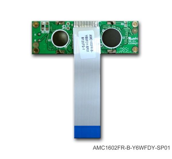 AMC1602FR-B-Y6WFDY-SP01 (16x2 Character LCD Module)