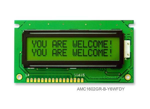 AMC1602GR-B-Y6WFDY (16x2 Character LCD Module)