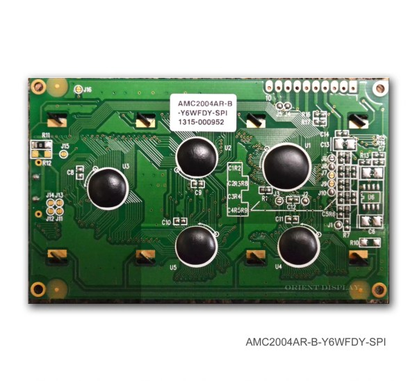 AMC2004AR-B-Y6WFDY-SPI (20x4 Character LCD Module - SPI Interface)