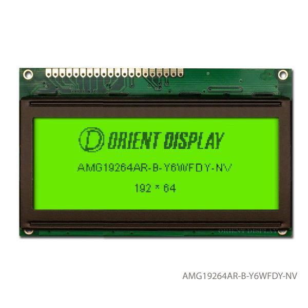 """AMG19264AR-B-Y6WFDY-NV (modulo LCD grafico da 3.3"""" 192x64)"""
