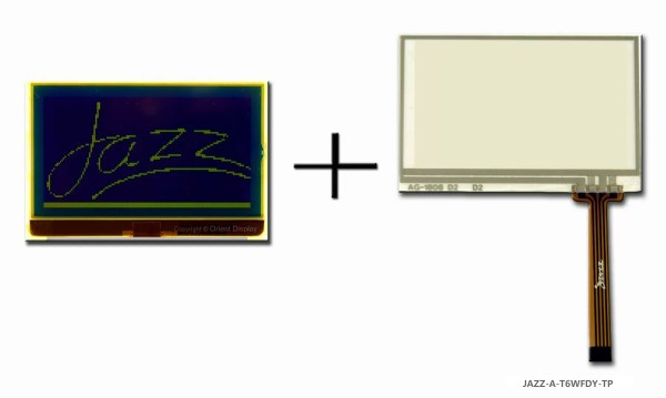 JAZZ A-T6WFDY-TP (LCD+BL+RTP Graphic COG 128x64)