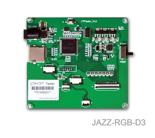 """JAZZ-RGB-D3 (Demo Board for 3.5"""", 4.3"""", 5.0"""", and 7.0"""" TFTs+CTP Modules)"""