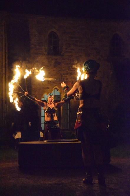 Feuershow für Brautpaar