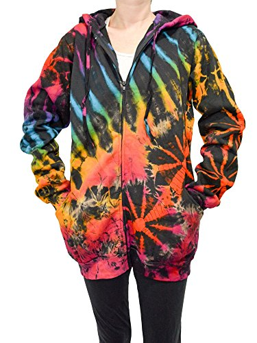 Orient Trail Adult Tie-dye Full Zip-up Hooded Sweatshirt
