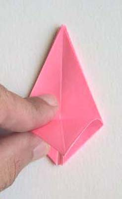 Origami Lily flower photo diagrams 14