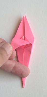Origami Lily flower photo diagrams 18
