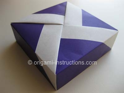 origami square box with lid instructions tutorial