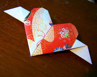 Origami Heart With Wings Photos