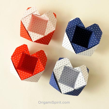 An Origami Heart Box Perfect For Valentines