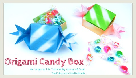 candy box origami origamitree.com