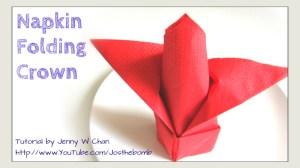 napkin folding crown origami origamitree.com