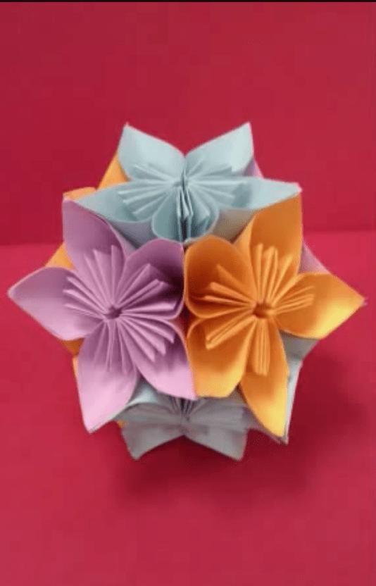 Origami Kusudama Diamond Flower | Origami, Origami paper, Diamond ... | 832x534