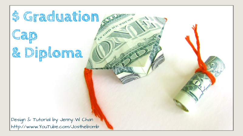 $2 Cap & Diploma - Money Origami