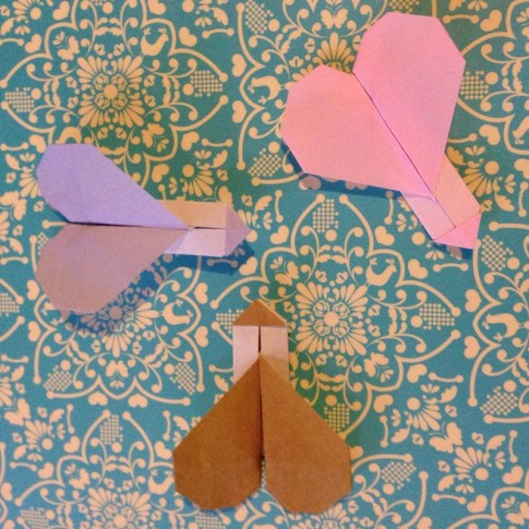 heart with arrow design origami origamitree