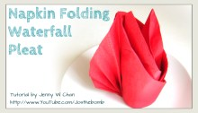 napkin waterfall pleat origami origamitree.com
