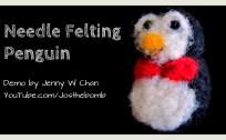 needle felting penguin origamitree.com
