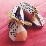 @origami_ann via Instagram, Origami Booties | TUTORIAL: http://wp.me/p5AUsW-5X