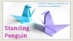 origami penguin origamitree.com