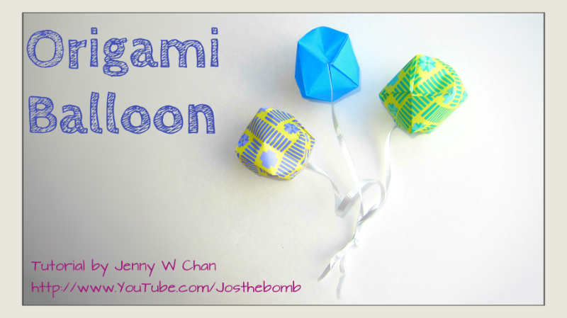 Origami Balloon / Inflatable Ball