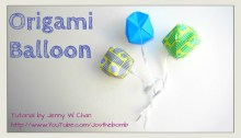 origami balloon inflatable ball origami origamitree.com