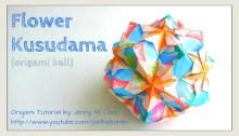 flower kusudama origami origamitree.com