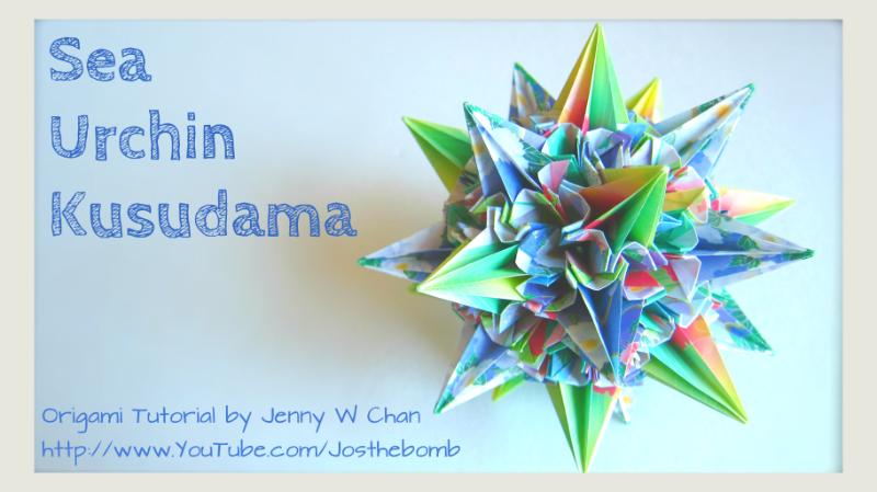 Origami Sea Urchin Kusudama