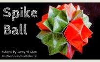 spiky ball origamitree.com origami
