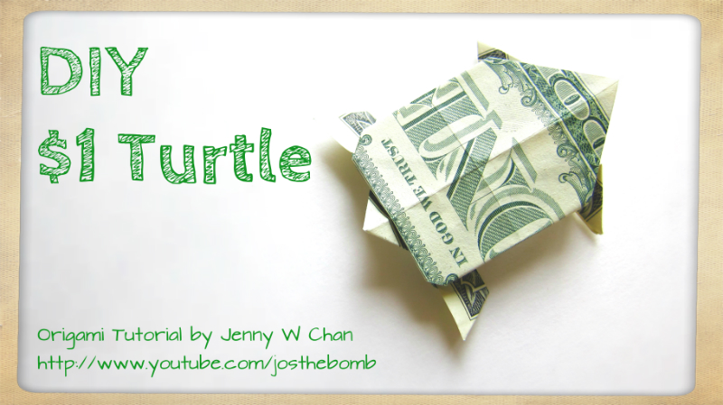 $1 Turtle - Money Origami