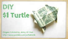 money origami turtle origamitree.com