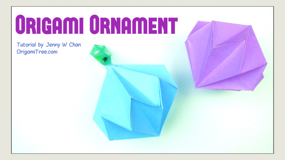 Origami Diamond Ornament Tutorial