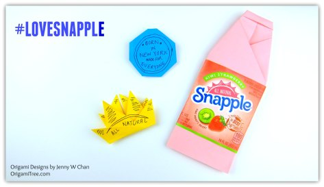 Snapple Origami Bottle Origami Sun Origami Badge