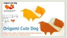 thumbnail origami cute dog origami dog origamitree.com