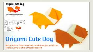 origami dog tutorial origamitree.com