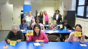 6.8.15 Origami Workshop, Senior Center, Brooklyn, NY