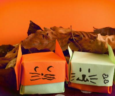 Origami Cat Box, Le Blog de La Sauterelle Tactile | TUTORIAL: http://wp.me/p5AUsW-Jh