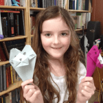 Origami Tiger Bookmarks, Tabitha | TUTORIAL: http://wp.me/p5AUsW-VF