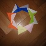 Origami Wreath Corona, Sandro A. | TUTORIAL: http://wp.me/p5AUsW-W5