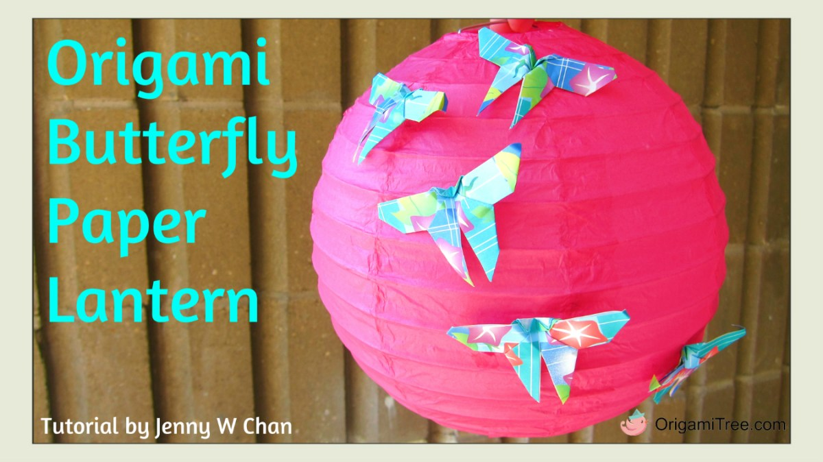 Origami Butterfly #2 - Paper Lantern Decoration