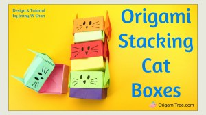 Origami Stacking Cat Boxes OrigamiTree.com Instructions Tutorial THUMBNAIL