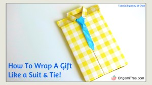 Suit and Tie Gift Wrapping Origami Tree