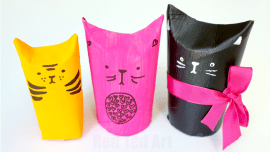 Red Ted Art Toilet Paper Roll Cat Gift Box REDTEDART Maggy Woodley