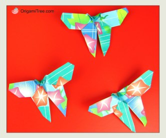 Origami Butterfly 2 OrigamiTree.com