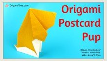 Postcard Pup Origami Dog OrigamiTree.comThumbnail