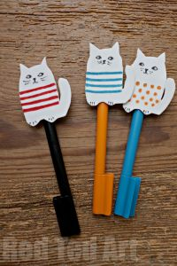 Craft Foam Cat Pencil Topper REDTEDART