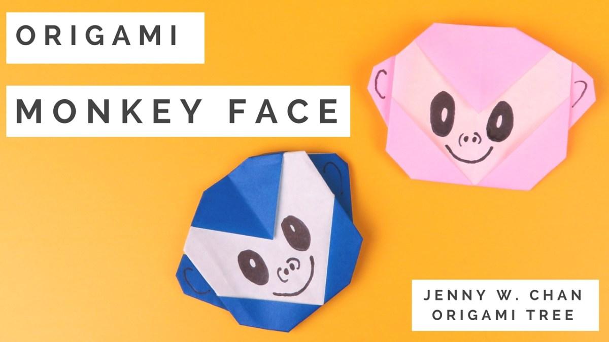 Origami Monkey Face