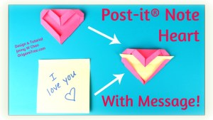 Origami Post it Note Heart with Secret Message Jenny W Chan Origami Tree