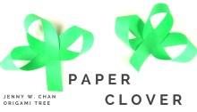 Paper Clover Shamrock Tutorial | Jenny W. Chan Origami Tree